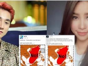 Sao Việt đồng loạt treo ảnh phản đối TRung Quốc