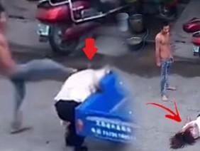 Đánh vợ tàn bạo giữa phố, người chồng vũ phu bị quả báo ngay lập tức