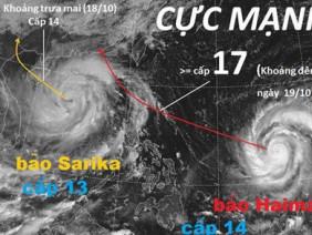 Xuất hiện siêu bão Haima, nguy cơ bão chồng bão xảy ra