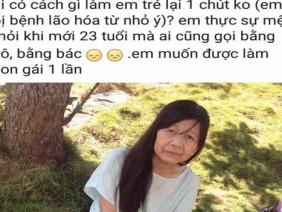 """Nữ sinh Phú Yên mang gương mặt bà lão mong """"được làm con gái một lần"""""""