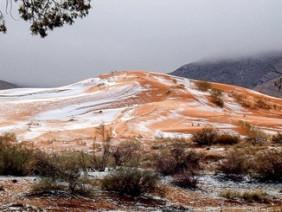 Sững sờ tuyết rơi trên sa mạc Sahara sau 37 năm