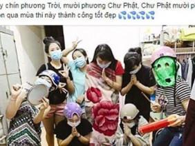 Nhóm nữ sinh bị ném đá vì lập đàn cầu thi tốt
