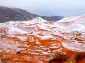 Chuyện Hy Hữu: Tuyết rơi ở sa mạc Sahara sau gần 40 năm