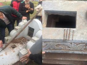 Hé lộ nguyên nhân hơn chục ngôi mộ bị chôn răng bừa, đinh 10, đổ chất uế tạp