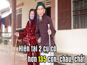 Bí quyết trường thọ của cặp vợ chồng người Nghệ An sống lâu nhất châu Á