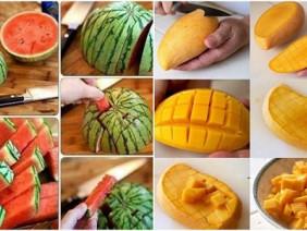 Tuyệt chiêu bổ hoa quả 'nhanh như điện xẹt' giúp bạn dễ dàng 'đánh chén'