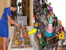 Cận cảnh chiếc bánh sinh nhật đắt giá nhất thế giới: 1.650 tỉ đồng