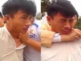 Trộm xe máy bị bắt quả tang, nam thanh niên khóc sướt mướt kêu oan