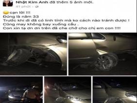 Nhật Kim Anh gặp tai nạn khi về Bến Tre biểu diễn