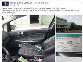 Lái xế hộp đi khám bệnh, Trương Thế Vinh bị trộm đập vỡ xe cướp đồ