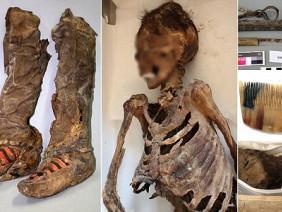 """Phát hiện mới về xác ướp 1.500 tuổi """"du hành thời gian"""" cùng giày thể thao adidas"""