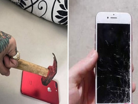 """Bị chửi tơi bời vì giả vờ đập iphone 7 Red, """"Hot boy xăm trổ"""" đăng ảnh cực sốc gọi dân mạng là """"Chó"""""""
