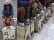 Nỗi lòng nông dân Indonesia đồng loạt 'chôn chặt' chân trong xi măng