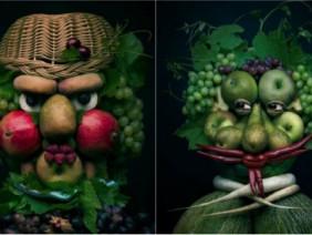 Những bức chân dung đẹp - độc - lạ đến mê hồn làm từ rau củ quả