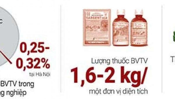 """Sử dụng thuốc bảo vệ thực vật """"6 đúng"""": Dân khỏe, ruộng sạch"""