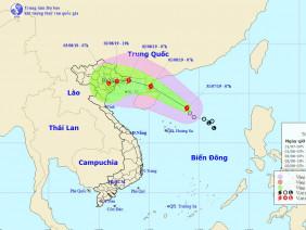Tin bão mới nhất- cơn bão số 3: Bão sẽ đi vào Quảng Ninh- Nam Định
